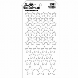 THS008 Stampers Anonymous Tim Holtz Layering Stencil - Stars